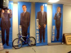 Inside the lobby of The Daily Show